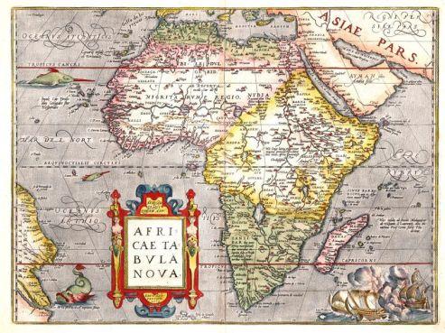 Mapa Afryki z 1570 roku.